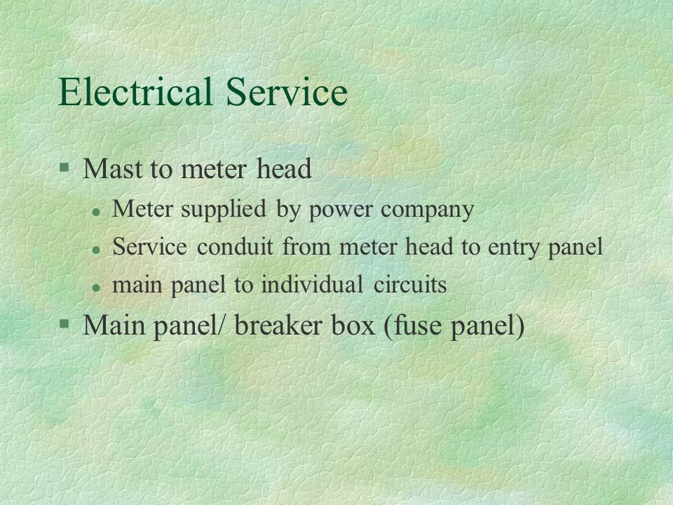 Electrical Service Mast to meter head