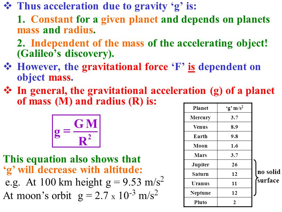 mass and gravity of planets - photo #33