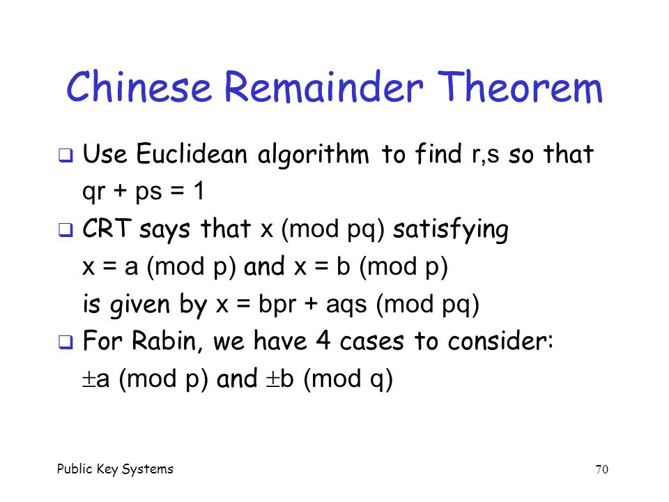 Chinese Remainder Theorem Research Paper Academic Writing Service
