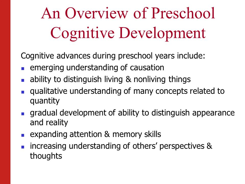 understanding cognitive development The development of various forms of social-cognitive understanding is one of the most important achievements of childhood cognitive development.