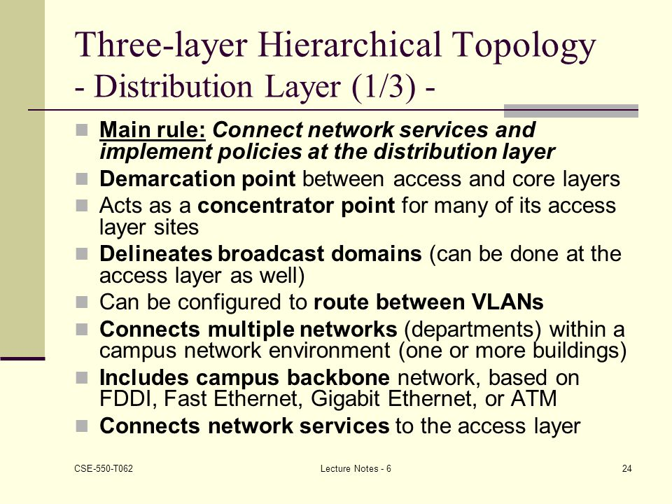 Three-layer Hierarchical Topology - Distribution Layer (1/3) -