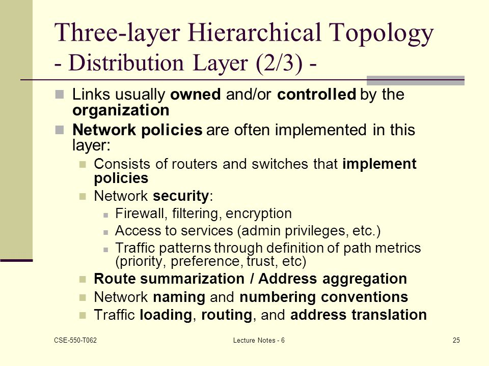 Three-layer Hierarchical Topology - Distribution Layer (2/3) -