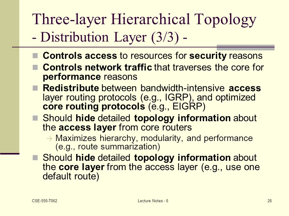 Three-layer Hierarchical Topology - Distribution Layer (3/3) -