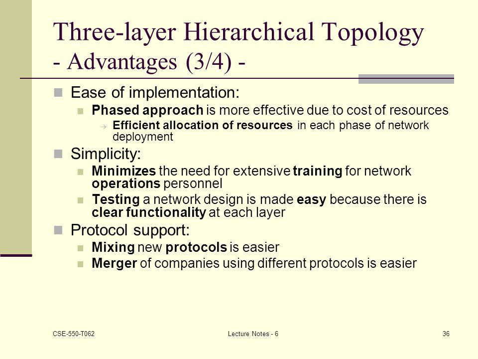 Three-layer Hierarchical Topology - Advantages (3/4) -