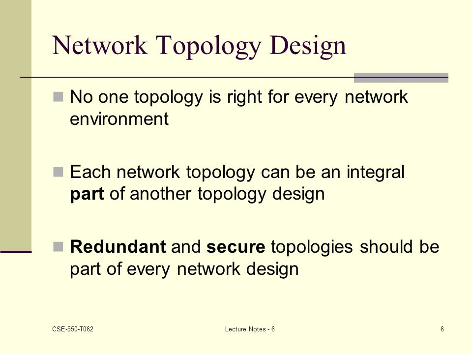 Network Topology Design