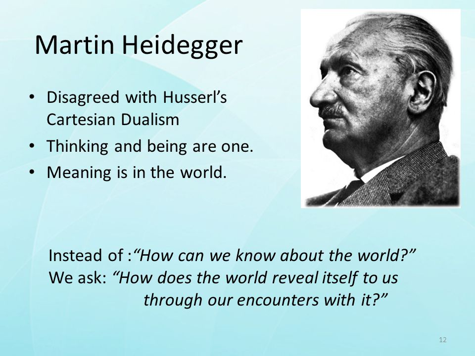 heidegger s being and time the meaning Heidegger coined the term dasein for this property of being in his influential work being and time (this entity which each of us is himselfwe shall denote by the term 'dasein' [1] ), in which he argued that being or dasein links one's sense of one's body to one's perception of world.
