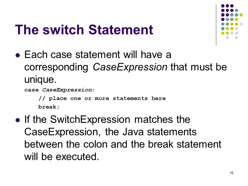 Logical operators java provides two binary logical - Switch case java ...