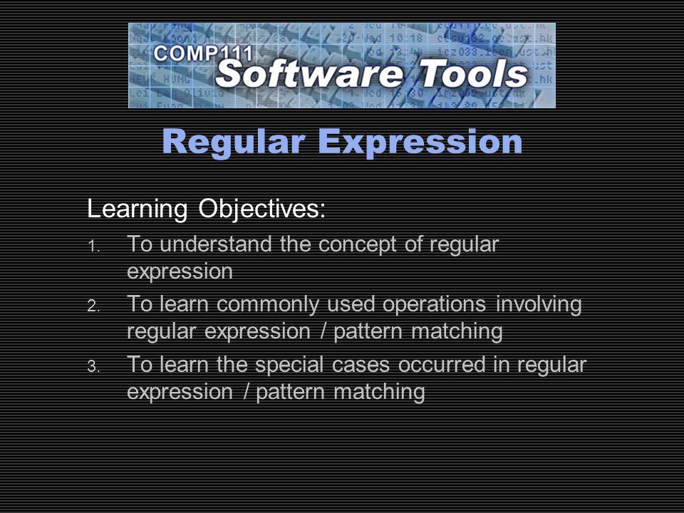 regular expression tutorial
