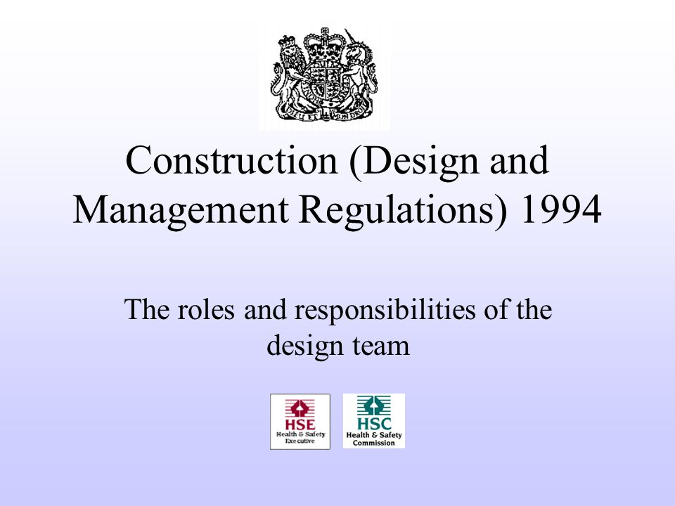 Construction design and management regulations ppt video for Construction rules and regulations