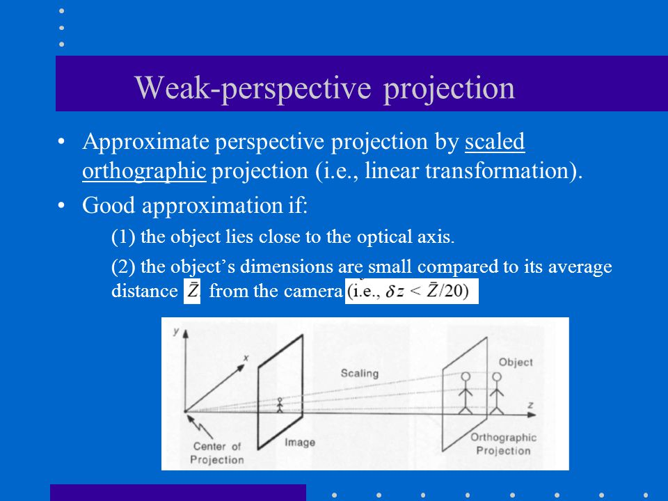Weak-perspective projection