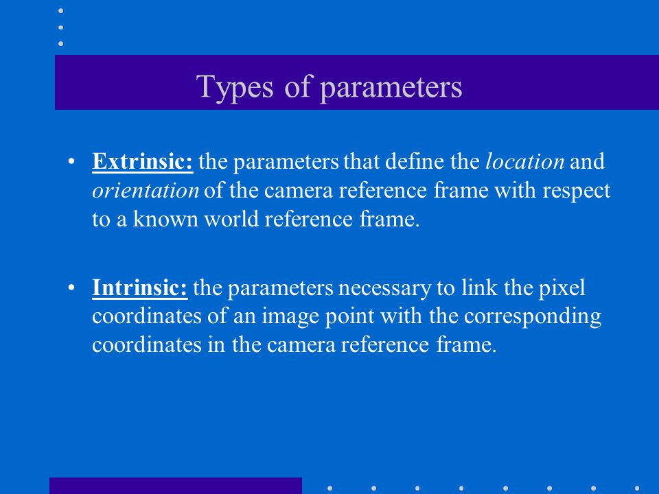 Types of parameters