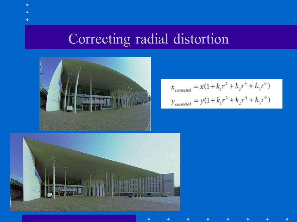 Correcting radial distortion