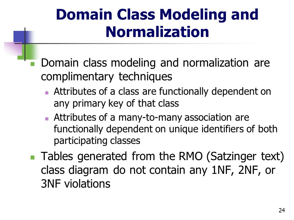 Cs 432 object oriented analysis and design ppt download domain class modeling and normalization ccuart Choice Image
