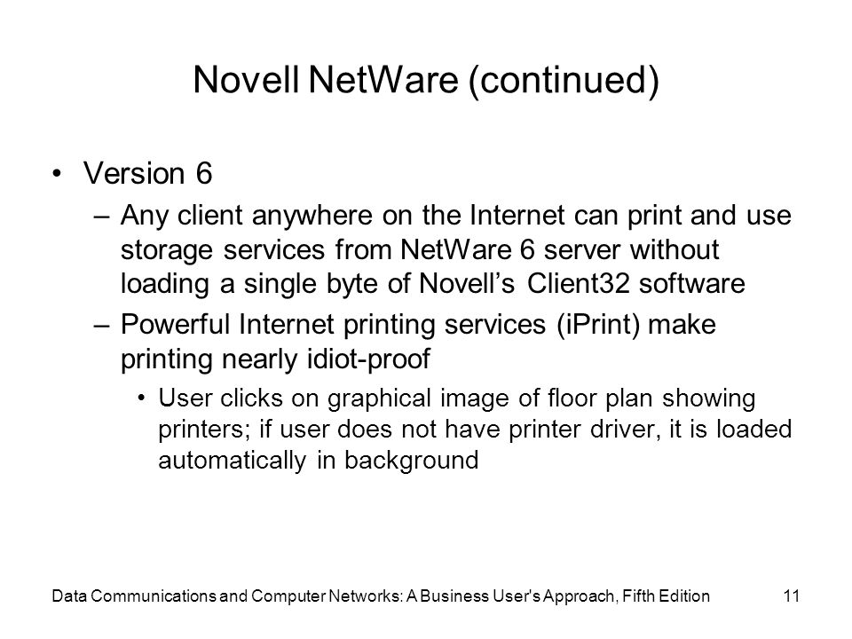 Novell NetWare (continued)