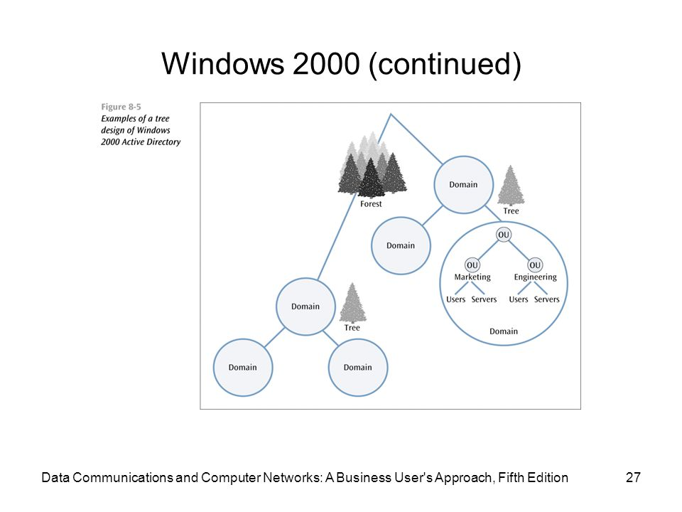 Windows 2000 (continued) Data Communications and Computer Networks: A Business User s Approach, Fifth Edition.