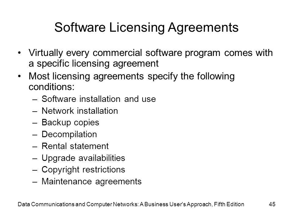 Software Licensing Agreements