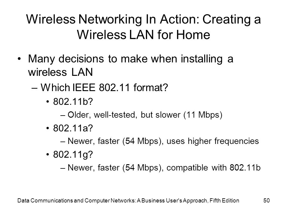 Wireless Networking In Action: Creating a Wireless LAN for Home