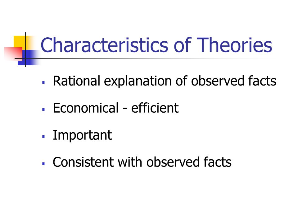 Characteristics of Theories