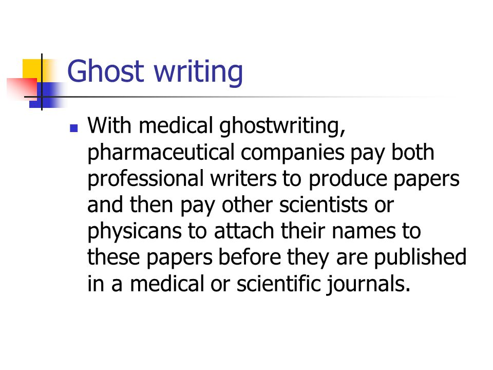 Ghost writing service journal articles