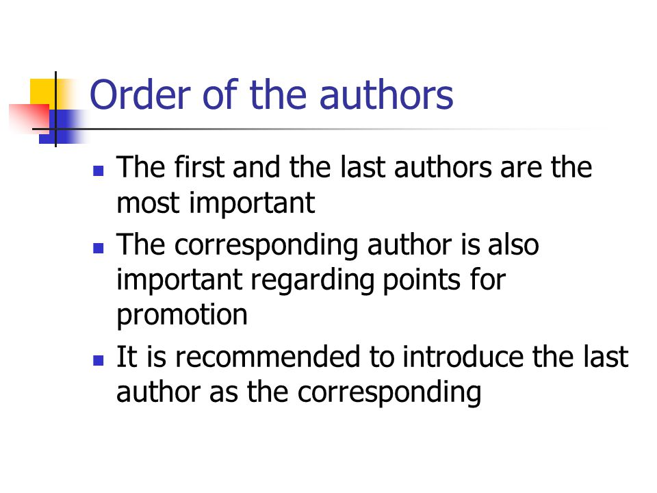 authorship criteria research paper Responsible authorship and peer review science and engineering ethics 8: 155-174 peer-review articles armstrong js, 1997 criteria for authorship george flynn peer review: what other options might there be elaine larson.