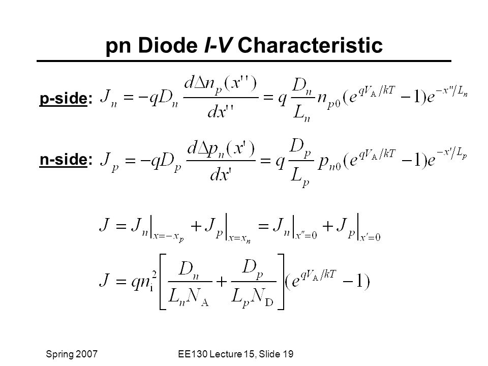 pn junction diode characteristics pdf