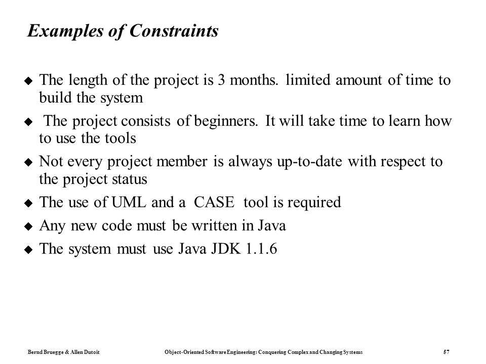 time constraint definition