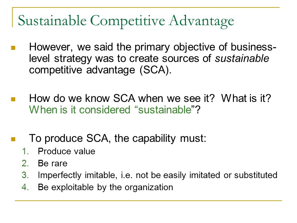 can competitive advantage be sustainable We all know that investing in sustainability is the right thing to do for the wellbeing  of this planet and the people on it what most people don't.