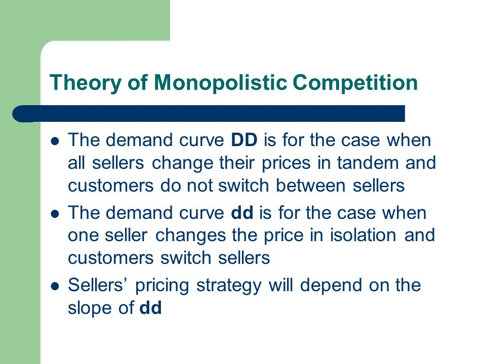 """the theory of monopolistic competition The term """"monopolistic competition"""" captures this mixture of mini-monopoly and tough competition, and the following clear it up feature introduces its derivation who invented the theory of imperfect competition."""