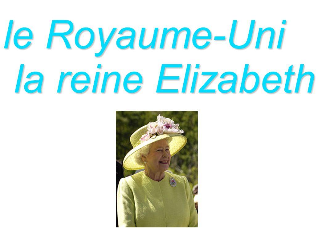 le Royaume-Uni la reine Elizabeth