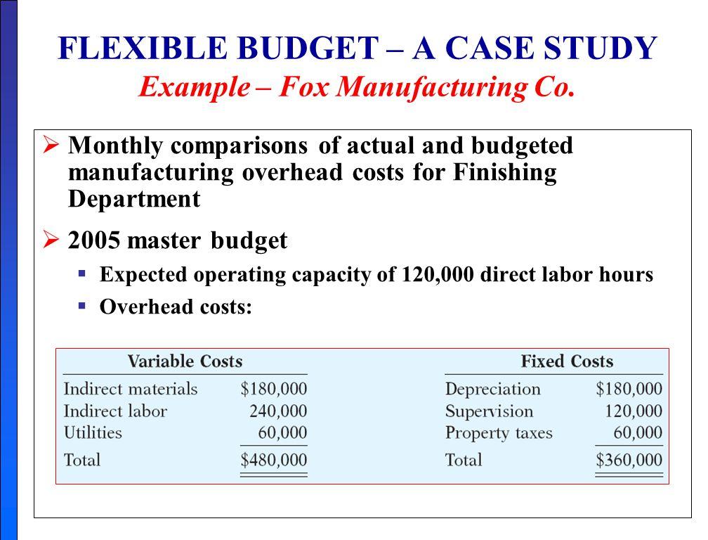 case study budgetary control