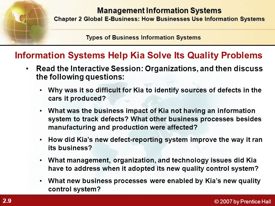 Information Systems Help Kia Solve Its Quality Problems