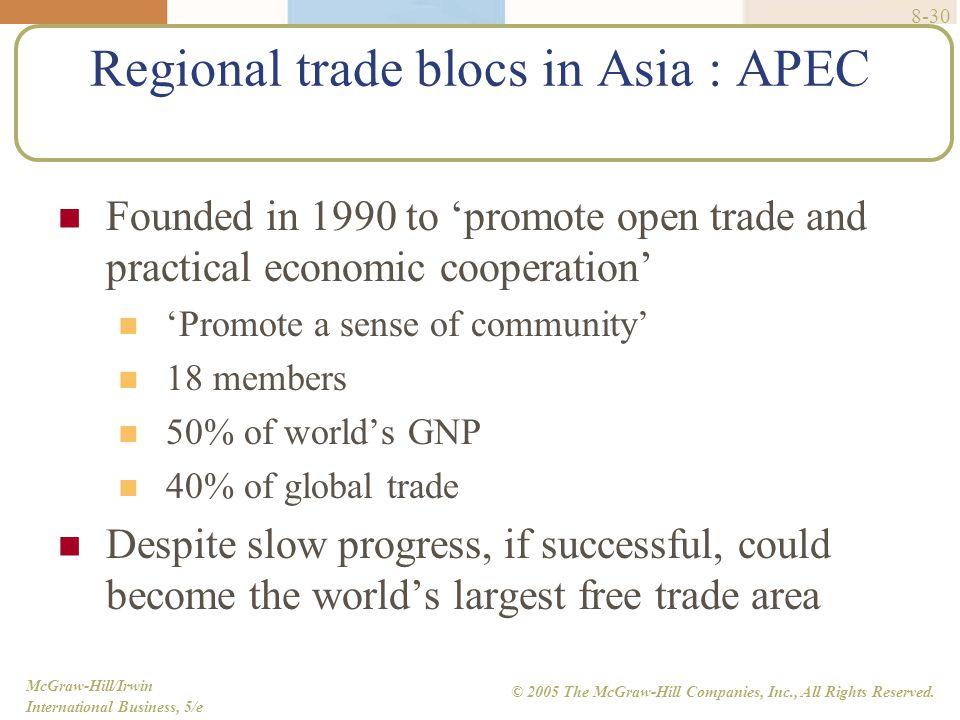 regional trade blocs essay Trading blocs and the world trade organisation (wto) trade blocs are of three kinds – these are listed in order, weakest to strongest: 1 free trade areas: these have no internal tariffs or quotas on trade between the members, but each country can set its own level of tariffs against the rest of world.