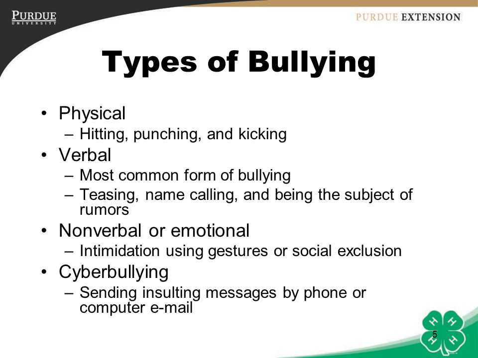 Bullying Definitions