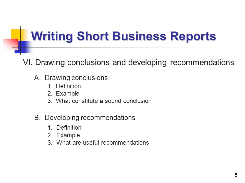 short business report introduction