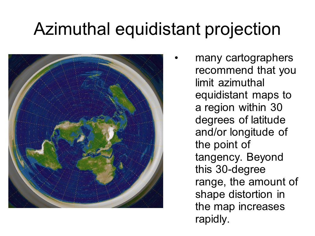 azimuthal map projection The lambert azimuthal equal-area projection is a particular mapping from a sphere to a disk the lambert azimuthal projection is used as a map projection in.