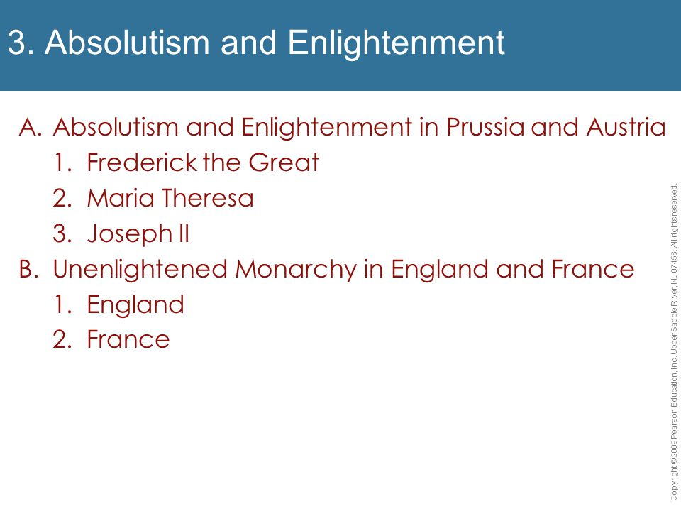 """absolutism and enlightenment The formation of modern thought and government - """"enlightened despot"""" - holy - paternal - absolute - reasonable - educated catherine the great of russia – the epitome of an enlightened despot."""