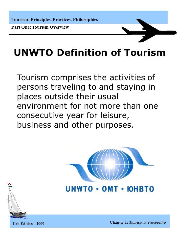 unwto definition of tourism pdf