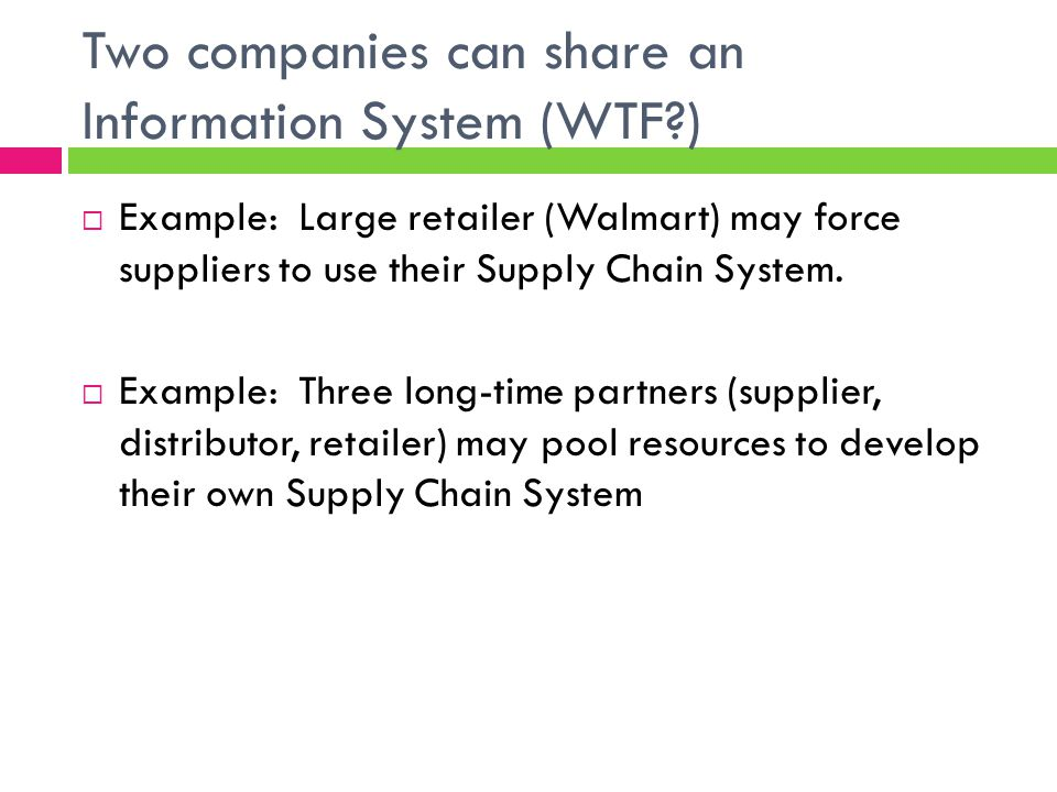 Two companies can share an Information System (WTF )