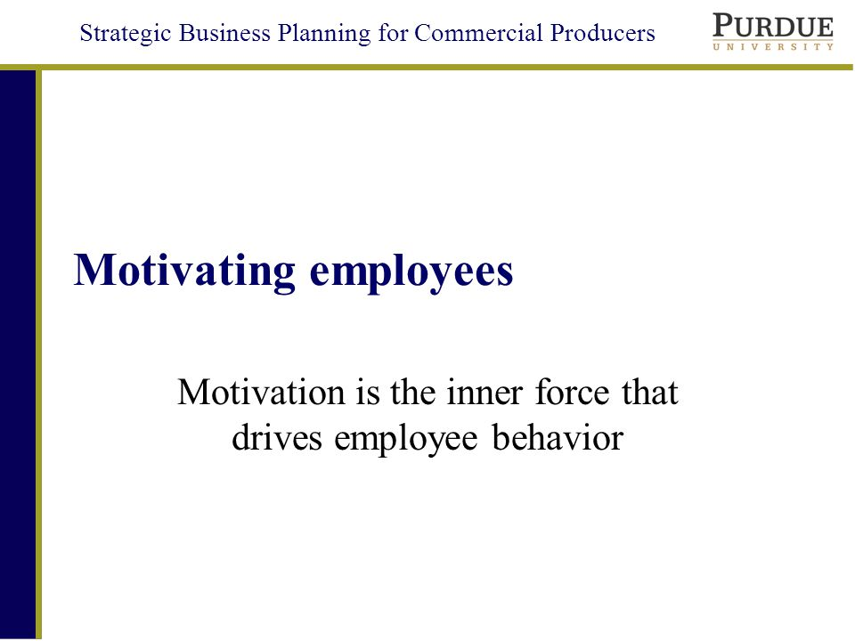 leading motivating and evaluating employees ppt 12 strategic business planning for commercial producers human resources motivating employees