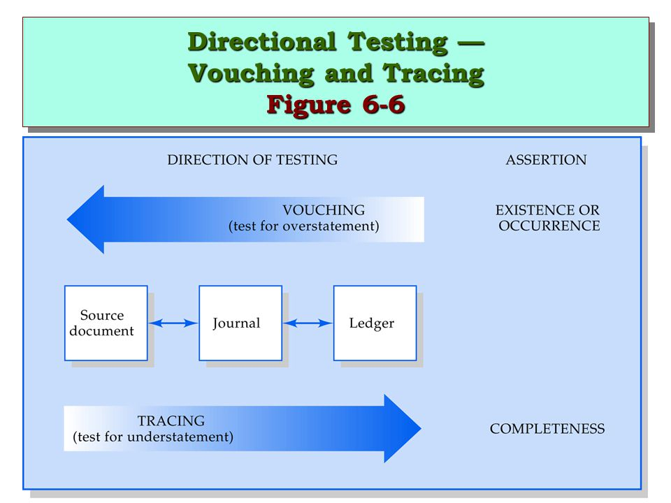 Directional Testing — Vouching and Tracing Figure 6-6