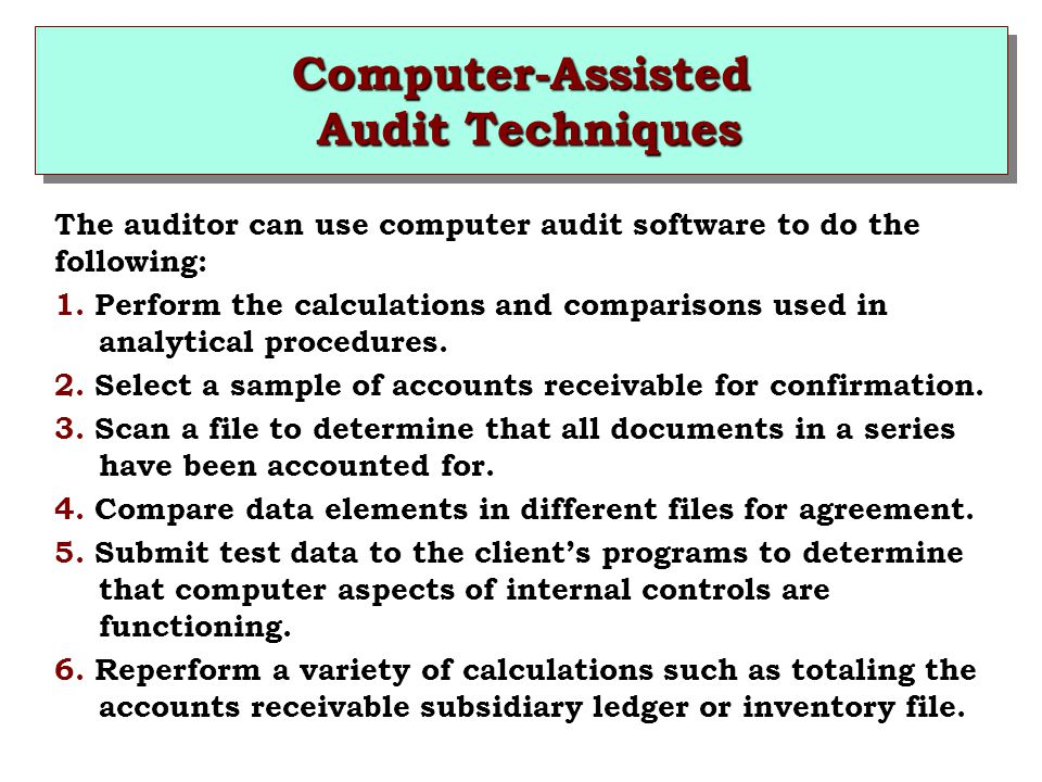 Computer-Assisted Audit Techniques
