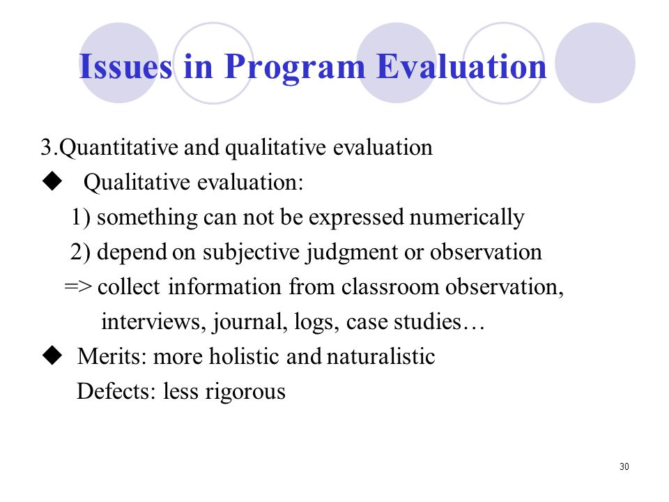 What is program evaluation lecture         compatibility mode