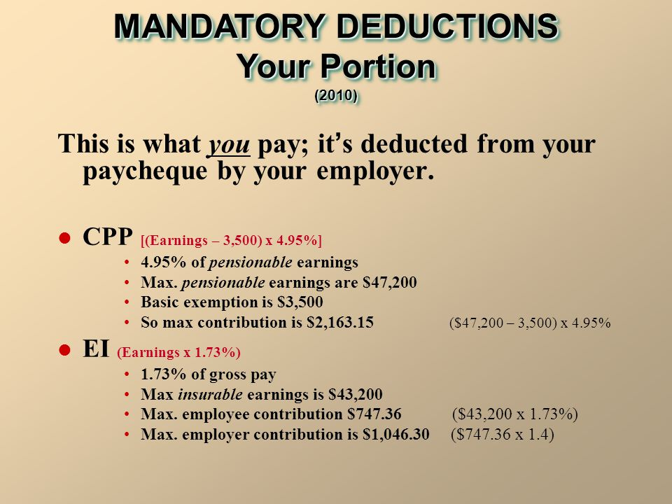 how to change income tax deducted from cpp