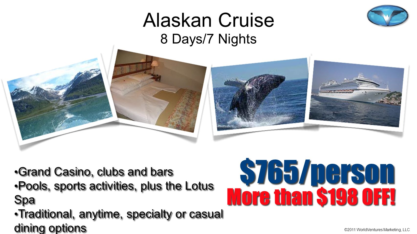 $765/person More than $198 OFF! Alaskan Cruise 8 Days/7 Nights