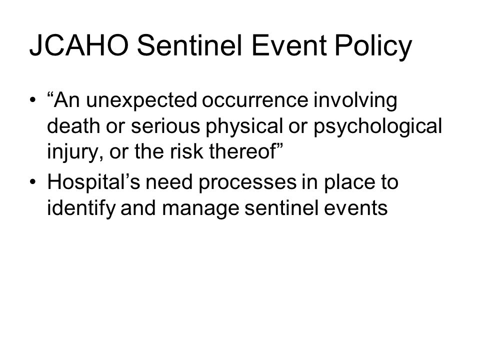 hospital sentinel event Within hours she was dead, though her baby survived sentinel event policy and procedures sentinel events (se) joint commissiontop 10 in 2015 becker's hospit.