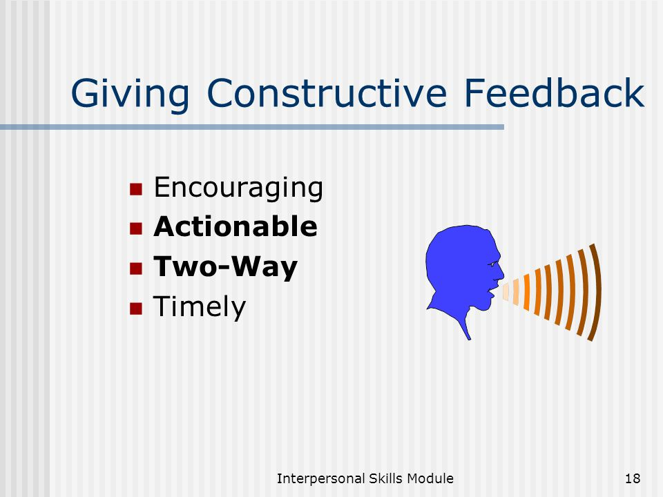 how to give feedback on presentation skills
