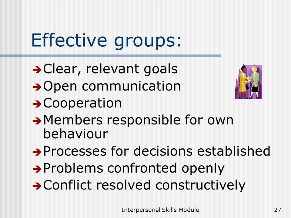 interpersonal needs Interpersonal skills are the tools people use to interact and communicate with individuals in an organizational environment the seven types of interpersonal skills that are needed to succeed in .