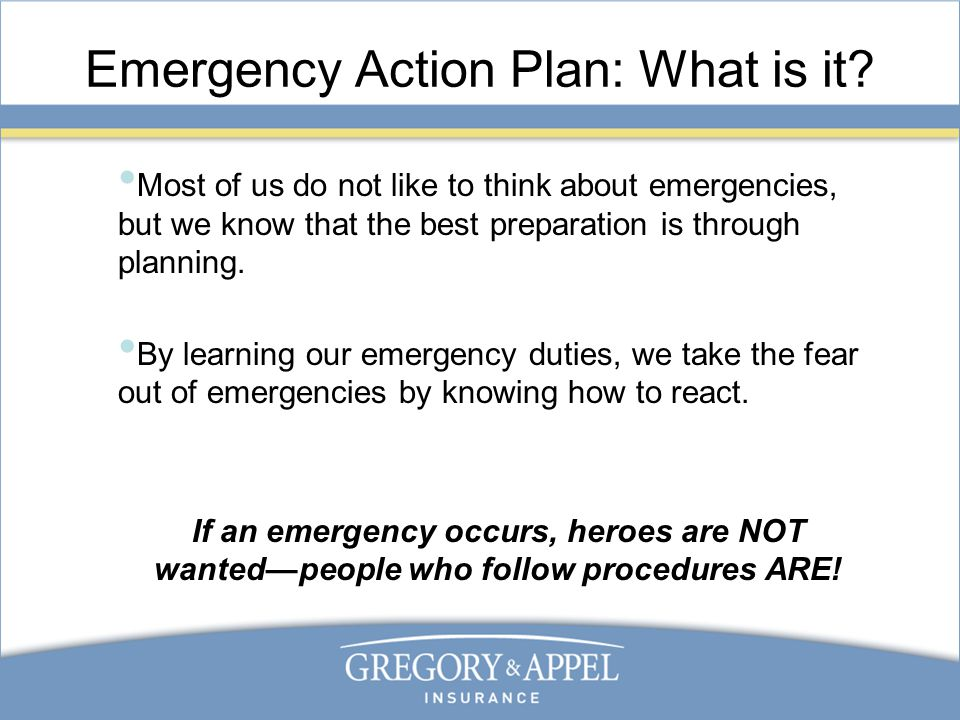 Emergency Action Plan: What Is It