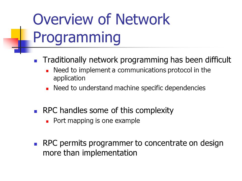 Overview of Network Programming