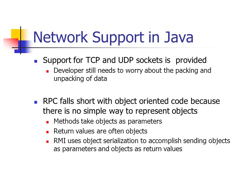 Network Support in Java